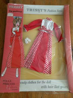 VINTAGE PALITOY TRESSY DOLL POLKA PRINCESS OUTFIT - EMPIRE MADE | 26.06+2.8