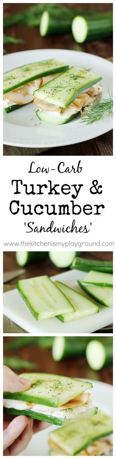 Low-Carb Smoked Turkey 'Sandwiches' ~ a GREAT low-carb lunch or snack option! www.thekitchenism...: