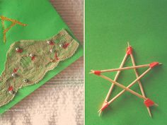 Christmas card and a star - ornaments, hand made diy christmas gifts
