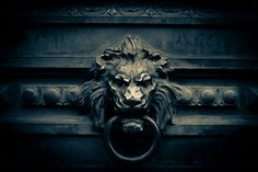 Lion's Head door knocker by a.pitch, via Flickr