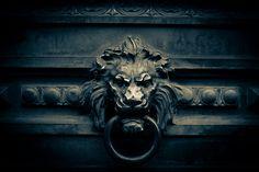 Lion's Head door knocker by a.pitch, via Flickr