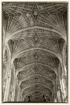 King's College Chapel in Cambridge England, built in 1512.