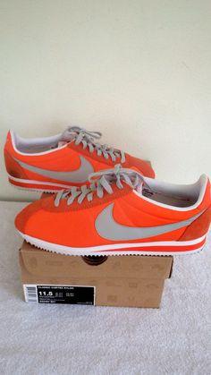 Nike Classic Cortez Nylon Electro Orange/Grey Sz 11.5 Men Running 532487-801  #Nike #RunningCrossTraining