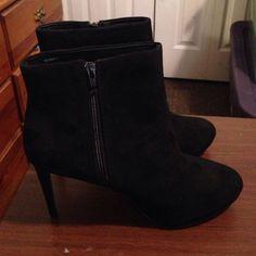 Bnwt Black Suedette Shoes