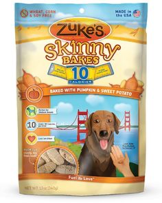 Zuke's Skinny Bakes Dog Treats, Pumpkin and Sweet Potato, 10-Calories, 12-Ounce ** Check this awesome product by going to the link at the image. (This is an affiliate link and I receive a commission for the sales)