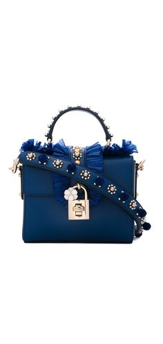 DOLCE & GABBANA embellished box tote, shop the best of Dolce & Gabbana at Farfetch now.