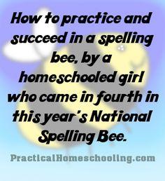 "How to ""Bee"" a Spelling Winner - National Spelling Bee finalist Naomi Nattress tells us her secrets of spelling success."