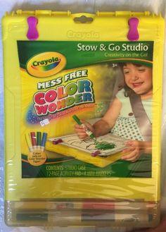 Crayola Activity Set Wonder Stow & Go Travel Tote - Yellow **BRAND NEW**  | eBay