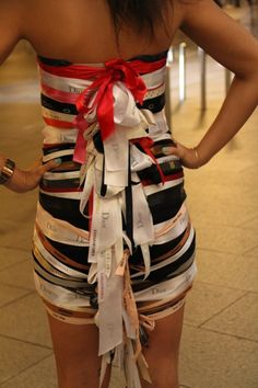 ABC Party Idea! Ribbon Bow Dress!