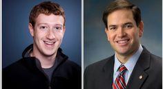 """Mark Zuckerberg and his """"Personal Senator"""" Marco Rubio"""