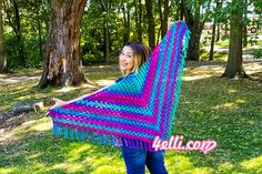 How to crochet the granny shawl!!