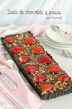 Tarta de chocolate y fresas (sin horno). Chocolate&Strawberries cake (no bake)