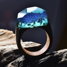 These Beautiful Wooden Rings Contain Miniature Worlds