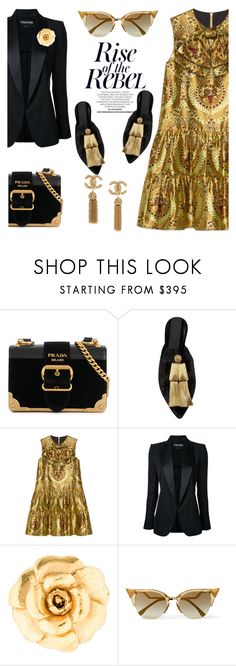 """""""Tassel dazzle"""" by pensivepeacock ❤ liked on Polyvore featuring Prada, Sanayi 313, Gucci, Tom Ford, Chanel and Fendi"""