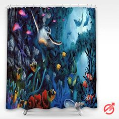Underwater dolphin ocea sea Shower Curtain