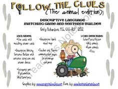 Follow the Clues: Animal Edition product from TheSpeechPath on TeachersNotebook.com