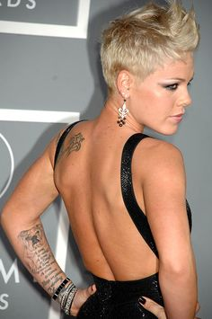 Pink the renowned soul and pop singer has been known for not only her vocals but also her public display of full body tattoos, with almost a cult following pink and her body markings have surely influenced her fanbase to some extent.