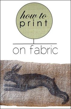 how to print on fabric