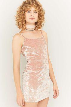 Shop: Urban Renewal Vintage Remnants Pink Marble Velvet Cami Dress