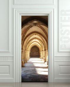 "Door STICKER  Harry Potter Hogwarts corridor arch vault mural decole film self-adhesive poster 30x79""(77x200 cm) / on Etsy, $39.99"