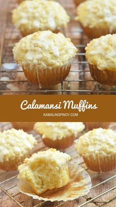 Moist, tender and with a tangy citrus glaze, these bakery-style Calamansi muffins are perfect for breakfast or brunch but are as delicious as an on-the-go snack. Pinoy Dessert, Filipino Desserts, Filipino Recipes, Filipino Food, Filipino Dishes, Pinoy Food, Quick Bread Recipes, Muffin Recipes, Baking Recipes