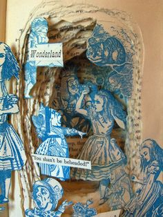 Kelly Campbell Berry Book Sculptures- Alice in Wonderland