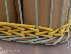 Мастер-класс Поделка изделие Плетение Японское плетение  Бумага газетная Трубочки бумажные фото 11