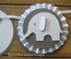 Blue and Gray It's a Boy  Baby Elephant by BeautifulPaperCrafts, $28.00
