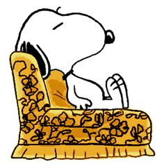 Snoopy Spending a Quiet Evening at Home