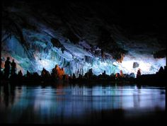 Reed Flute Cave, China.  These bizarre and brilliant shapes form an alternative skyline. | 18 Stunning Photos That Prove Earth Isn't So Bad