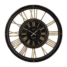 """Sterling Industries 130-002 32""""H Large Clock with Distressed Hand Painted Frame"""