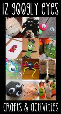 12 Googly Eyes Crafts & Activities for Halloween {hands on as we grow} Halloween Activities, Holiday Activities, Craft Activities For Kids, Toddler Activities, Projects For Kids, Halloween Crafts, Crafts For Kids, Halloween Ideas, Art Projects
