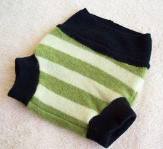 Repurposed Wool Diaper Cover Soaker - Small. $13.00, via Etsy.