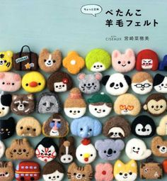 Flat Needle Felt Cute Badges and Brooches - Japanese Craft Book by pomadour24 on Etsy https://www.etsy.com/listing/225397806/flat-needle-felt-cute-badges-and