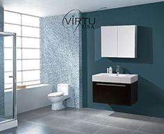 """36"""" Virtu Midori JS-50136-WG Single Sink Bathroom Vanity - Wenge #Virtu #HomeRemodel #BathroomRemodel #BlondyBathHome #BathroomVanity"""