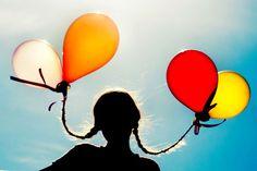 balloons in braids