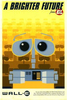 WALL-E - Retro Disney/Pixar Posters by Eric Tan