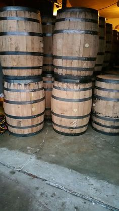 Authentic Whiskey barrels new and used in Godfrey, IL (sells for $160)