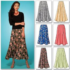 Misses'/Misses' Petite Skirt, Gored Skirt! Dress Making Patterns, Skirt Patterns Sewing, Clothing Patterns, Long Skirt Patterns, Skirt Sewing, Pattern Skirt, Blouse Patterns, Costura Plus Size, Plus Size Sewing