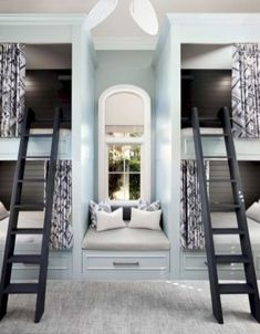 76 Cute Kids Bedroom Furniture Bunk Beds Ideas - Wedding Home Decoration Bunk Beds Small Room, Bunk Bed Rooms, Bunk Beds Built In, Kids Bunk Beds, Small Rooms, Build In Bunk Beds, Boys Bunk Bed Room Ideas, Small Spaces, Small Bathrooms