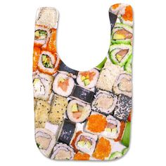 Funny gift idea for a new mom: A gift certificate to her favorite local sushi place and a sushi baby bib ... after 9 months of spicy tuna roll deprivation.