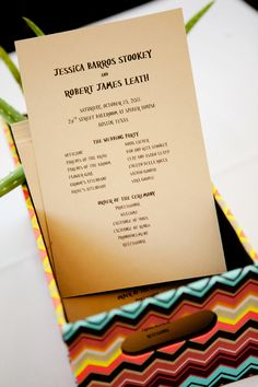 programs for wedding at @Spider House with @Pearl Events Austin