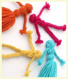 Braided yarn dolls. Featured by Special Learning House. www.speciallearninghouse.com..jpg