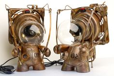 Awesome steampunk characters sold at D&W gallery in Pittsboro