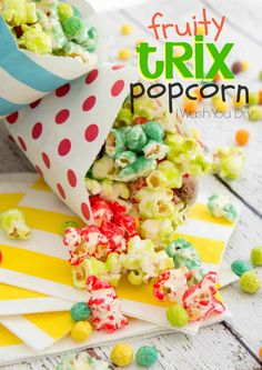 Fruity Trix Popcorn - was perfect for our game night! Would make a great movie night snack too!