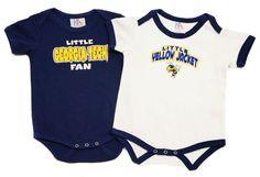 NCAA GEORGIA TECH YELLOW JACKET BABY BOY 12 MONTHS ONESIE ONE-PIECE LOT 2 - NEW #GEORGIATECH #YELLOWJACKET