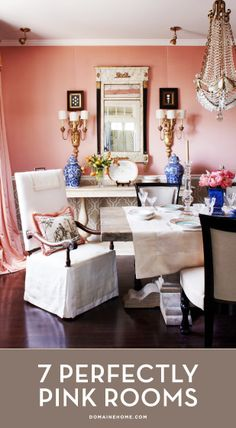 7 Perfectly Pink Rooms to Swoon Over // interior design, paint, walls, decorating