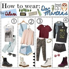How to wear: Doc Martens by the-hipster-tip-sisters on Polyvore featuring polyvore, art and doc martens