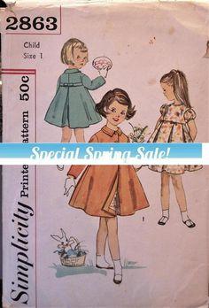 One of a kind!  Vintage 60s Simplicity sewing #supplies @EtsyMktgTool #vintagepattern #vintagesimplicity #simplicity2863 #60spattern