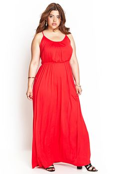 halter, simple plus size maxi dress. comes in a bunch of colors!